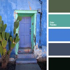 This cold color palette will be appropriate in a room where sunny side prevails. It will create a cool visual effect.