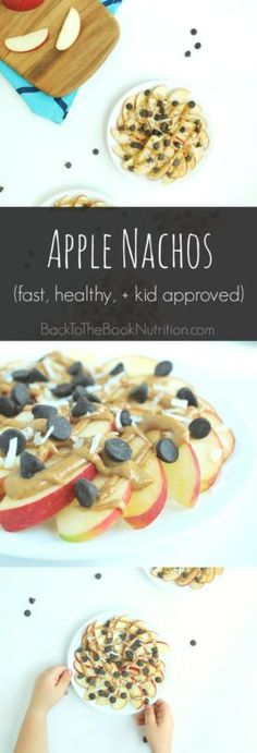 Fast and easy apple nachos - a healthy and delicious snack for kids of all ages! | Back To The Book Nutrition