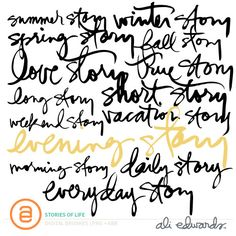 Stories Of Life by Ali Edwards #weekinthelife #craftthestory