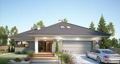DOM.PL™ - Projekt domu FA Nela VI CE - DOM GC7-26 - gotowy koszt budowy House Blueprints, Design Case, Bungalow, House Plans, Garage Doors, New Homes, Room Decor, How To Plan, Outdoor Decor