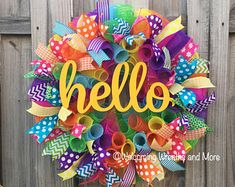 Summer Mesh Wreath/ Wreath SALE/ Spring Mesh Wreath/ Welcome