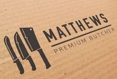 Matthews Premium Butcher by Amanda Alessi, via Behance