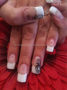 eye candy Nails Training - Nails Gallery: Freehand nail art by Elaine Moore on 3 December 2011 at French Manicure Nail Designs, Fingernail Designs, French Tip Nails, Nail Manicure, Nail Art Designs, Pedicure, Fancy Nails, Pretty Nails, Nice Nails