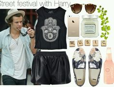 1d outfit, Harry Styles, and one direction von Realityruinedmylife | We Heart It