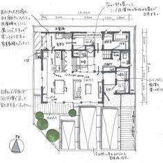 MIO DESIGN OFFICEさんはInstagramを利用しています:「☆間取り相談依頼より☆ 39坪の2階建てです。 ✳︎ ✳︎ 西と南に道路がある敷地で、駐車台数が多いので南西から光を取り込むようにしました。 1階に広めの家事室やクローゼットがあり、回遊性もある間取りです。 ✳︎ ✳︎…」 Small House Design, House Layouts, House Plans, Floor Plans, How To Plan, Photo And Video, Instagram, Home, Hawaii
