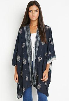Scarf Print Kimono | Forever 21 - 2000142620