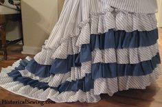 How to Calculate Yardage for Ruffles — 19th C Costuming | Sewing Instructions | Historical Costume | Sewing Pattern Help | Period Clothing