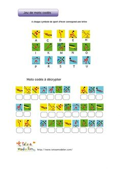 Jeu de mots codés : logos des sports des JO d'hiver 3 Nintendo 2ds, Theme Sport, French Classroom, Classroom Door, French Education, Periodic Table, Coding, Sports, School