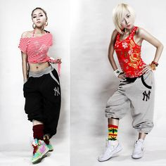black and gray baggy hip hop pants women Hip Hop Dance necessary-in Pants & Capris from Apparel & Accessories on Aliexpress.com