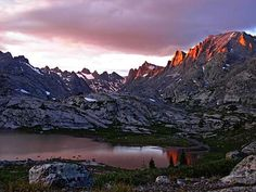 This is one of my Bucket List Trips.  Sunset light on Fremont Peak in the Wind River Range (David Nelson)