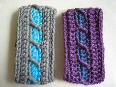 Crochet bracelet Tutorial ✿⊱╮Teresa Restegui http://www.pinterest.com/teretegui/✿⊱╮