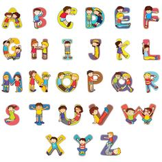 Buy Alphabet by interactimages on GraphicRiver. Set of kid alphabet characters Alphabet A, Alphabet Design, Alphabet For Kids, Boy Cartoon Characters, Letters For Kids, Vintage Typography, Vintage Logos, Retro Logos, Yoga For Kids