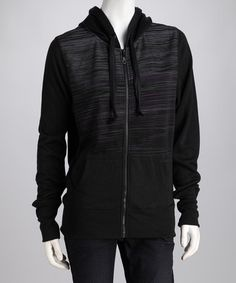 Take a look at this Black Zip-Up Hoodie by Cruel Girl on #zulily today!