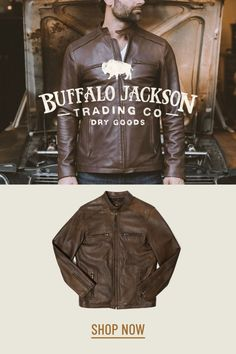 This vintage style brown leather jacket gives any outfit a classic rugged aesthetic. Keep it classy and casual — the more you wear this moto /racer jacket, the better it looks and feels. Great gift for men! Leather Men, Leather Jackets, Brown Leather, Resale Store, Great Gifts For Men, Dry Goods, Vintage Fashion, Vintage Style, Moto Jacket