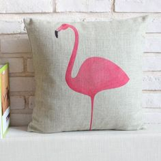 Pink Flamingos decorative throw pillows for sofa