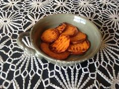 Who says you can't eat comfort food when being healthy?  Here is my favorite...Sweet potato circles!  So easy!  Cut sweet potatoes (I used crinkle chopper from pampered chef) and fry in a couple tablespoons of coconut oil! Add Salt! cut them thinner and you have sweet potato chips.  Add cinnamon and sweetener for sweet chips!