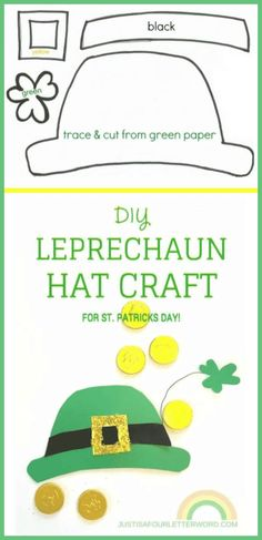 leprechaun hat paper craft that you can wear black and.html