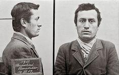 """Fotografias da prisão de """"Benito Mussolini"""". 19/Junho/1903. #Berna, Suíça."""