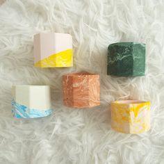 Tea Light Candles, Tea Lights, Marble Effect, Best Candles, Handmade Home Decor, Tea Light Holder, White Marble, Tissue Paper, Terracotta