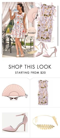 """""""Be Elegant Lady - Shein.com 7/6"""" by bebushkaj ❤ liked on Polyvore featuring RED Valentino and Cara"""