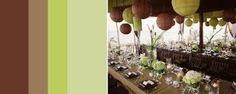 decoração casamento marrom verde - Pesquisa do Google