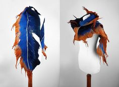 Feather+Scarf+Felted+Scarf+Nunofelt+Scarf+FEATHER+SCARF+by+filcant,+$179.00