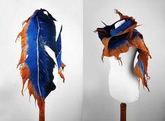 Écharpe feutrée châle long feutre Nuno Nuno boho tissu folk étoles feutrés