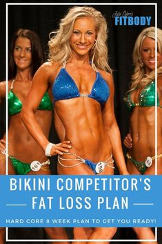 Bikini Competitor& Weight Loss Plan - 8 Week Hard Core Fat Loss plan to help you prepare for a Bikini Competition Losing Weight Tips, Weight Loss Goals, Weight Loss Program, Lose Weight, Bikini Competition Prep, Fitness Competition Diet, Npc Bikini Prep, Figure Competition Diet, Fitness Model Diet