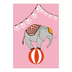 Hep - add a playful note to your house with this circus poster.  Remember the first time you ever went to the circus and how you watched the elephants with bated breath? That's HEP! Joyful and straight from the heart. Designed by Johanna Högväg. Available at 25 euro.