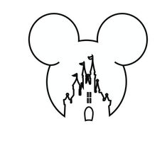 This would be so cute for a Disney fan Mickey Mouse Drawing Easy, Mickey Mouse Drawings, Mickey Mouse Wallpaper, Mickey Mouse Head, Disney Drawings, Mickey Mouse Outline, Disney Mickey Mouse, Castle Drawing Easy, Disney Castle Drawing