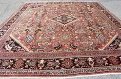 11x14-Soft-Color-1950S-Authentic-Persian-Lilihan-Heriz-Oriental-area-rug-1210