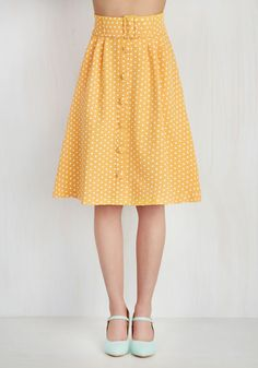Intern of Fate Skirt in Citrus Dots, #ModCloth