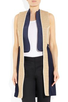 J.W. Anderson raffia trimmed sleeveless jacket