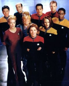 Star Trek: Voyager. Not as good as TNG, in my opinion, but still good. In my mind Kate Mulgrew, Jeri Ryan and Robert Picardo are the call out actors in this series.