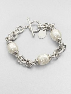 Majorica 12MM White Baroque Pearl Station Bracelet on shopstyle.com