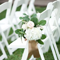 and White Shabby Chic Wedding Santa Rosa Beach FL White and Green Aisle Decor. Love the simplicity and colors.White and Green Aisle Decor. Love the simplicity and colors. Wedding Ceremony Ideas, Wedding Pews, Chic Wedding, Trendy Wedding, Outdoor Ceremony, Outdoor Wedding Chairs, Summer Wedding, Wedding Ceremonies, Outdoor Lounge
