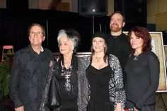 Johnny Cash's family members pose for a photo after Sunday's ceremony in Dyess, Ark. From left to right are brother Tommy Cash, sister Joanne Cash Yates, daughter Cindy Cash, son John Carter Cash and daughter Rosanne Cash. CREDIT  KUAR NEWS