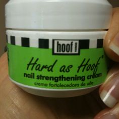 """This product is amazing!! Found it at Walmart when my nails became thin and splitting! Used cream faithfully 2X daily for over a month and BAM! They are as the product suggests""""HARD AS HOOF"""""""