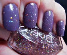 LOVIN this purple with light glitter inspired mani!!!! ❤