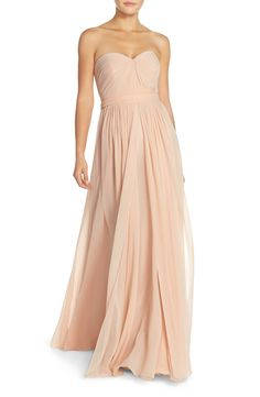 Jenny Yoo Mira Convertible Strapless Pleat Chiffon Gown available at #Nordstrom