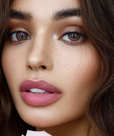Dusty pink lipstick