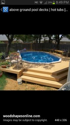 above ground pool deck designs with steps : Swimming Pool Deck Designs. design a pool deck,pool deck design ideas,swimming pool deck,swimming pool deck ideas,wooden pool decks Round Above Ground Pool, Above Ground Swimming Pools, In Ground Pools, Garden Swimming Pool, My Pool, Oberirdische Pools, Cool Pools, Deck Pictures, Building A Deck