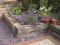 Ideas garden borders edging flower beds railway sleepers for 2019