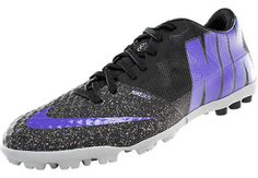 Nike Bomba Finale II Turf Soccer Shoes - Black with Purple.Available at  SoccerPro now.