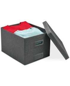 Poppin Large Collapsible Storage Box - Gray