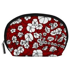 Red White Black Flowers Accessory Pouches (Large) from CircusValley Mall Front Black Flowers, Home Decor Items, Pouches, Mall, Red And White, Floral, Gifts, Clothes, Accessories