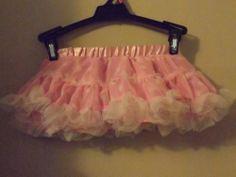 new pink polka dot tutu petticoat Infants 6-9 mons frilly ballerina baby glam