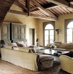 55 Cozy Rustic Living Room Decor Ideas - Home Decor & Design Provence Style, Shabby Chic Decor, House Design, Modern Rustic Living Room, House Styles, Rustic Living Room Design, French Style Interior, French House, Living Room Designs