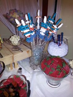 Sweet Kebabs Sweet Bar, Kebabs, Birthday Candles, Pink, Kabob, Pink Hair, Kabobs, Roses