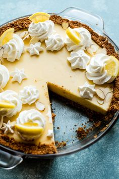Creamy Lemon Pie | Sally's Baking Addiction | Bloglovin'